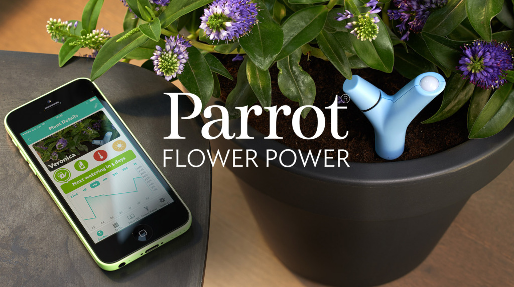 in stock parrot flower power wireless plant monitors handtec blog. Black Bedroom Furniture Sets. Home Design Ideas